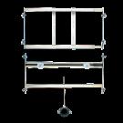 Sanela Rám určený do sádrokartonových konstrukcí pro pisoár se splachovačem umístěným nad pisoárem
