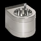 Sanela Nerezová pitná fontánka závěsná s automaticky ovládaným výtokem, bateriová