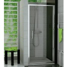 RONAL TOPP TOP-Line jednokřídlé dveře 75 cm, matný elox/Cristal perly TOPP07500144