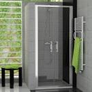RONAL TOPP2 TOP-Line dvoukřídlé dveře 75 cm, matný elox/sklo Durlux TOPP207500122