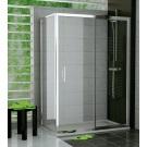 RONAL TOPS2 TOP-Line jednodílné posuvné dveře 120cm, bílá/Cristal perly TOPS212000444