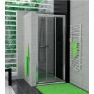 RONAL TOPS3 TOP-Line třídílné posuvné dveře 120cm, bílá/Cristal perly TOPS312000444