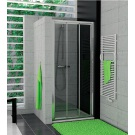RONAL TOPS3 TOP-Line třídílné posuvné dveře 120cm, matný elox/Durlux TOPS312000122
