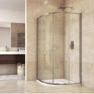 MSO Trade Sprchový set: sprchový kout, čtvrtkruh, 90x185 cm, R550, chrom ALU, sklo čiré, SMC vanička nízká