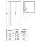 Ideal Standard Synergy Sprchové dveře skládací 70 cm, silver bright (lesklá stříbrná)