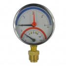 """Klum Termomanometr 0-4bar, 0-120 °C, spodní vývod 1/2"""""""