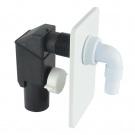 Klum Pračkový sifon podomítkový ø 40 mm, bílý, plast