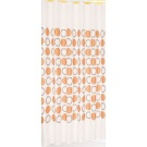 SAPHO Závěs 180x200cm,100% polyester, bílá s oranžovými kruhy