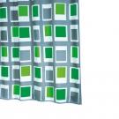 SAPHO UP DOWN sprchový závěs 180x200cm, polyester, zelená