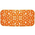 SAPHO MARGHERITA podložka do vany 34,5x72cm s protiskluzem, PVC, oranžová