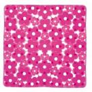 SAPHO MARGHERITA podložka do sprchového koutu 51,5x51,5cm s protiskluzem, PVC, růžová