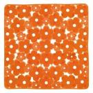 SAPHO MARGHERITA podložka do sprchového koutu 51,5x51,5cm s protiskluzem, PVC,oranžová