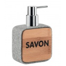 SAPHO NORA dávkovač mýdla na postavení, šedá/bambus