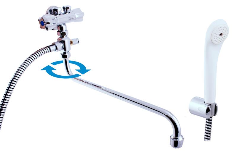 Slezák-Rav Vodovodní baterie pro vanu a umyvadlo pro průtokové ohřivače  chrom, připojení na trubičky ( EM056.1/1P )
