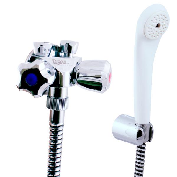 Slezák-Rav Vodovodní baterie sprchová pro nízkotlaké ohřívače chrom, připojení na trubičky ( EN080.1/1 )